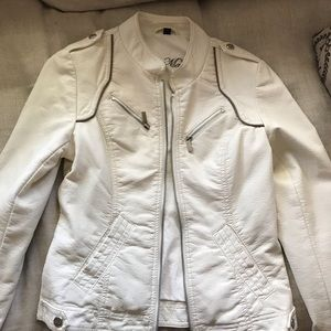 Steve Madden faux leather moto jacket